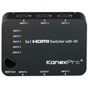 KanexPro SW-HD5X14K 5x1 HDMI Switcher with 4K Support