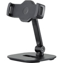 K&M 19800 Smartphone/Tablet Desk Stand for devices from 10.2 to 13 Inches - Black
