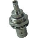 Kings 206G-034-00003N 1.0 / 2.3 DIN-Jack / BNC-Jack Bulkhead Adapter Isolated - Nickel