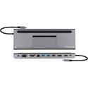 Kramer KDOCK-4 USB-C Hub Multiport Adapter - 4k@30 HDMI/DisplayPort Out/VGA/Ethernet/USB3.0 Data & Charging/SD/MicroSD