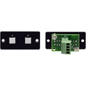 Kramer RC-20TB(B) Wall Plate Insert - 2-Button Contact Closure Switch - Black