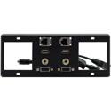 Kramer T6F-2S TBUS-6xl Inner Frames - 2 Single Power Sockets - 15-Pin HD / USB-A / RJ-45 / 3.5mm Inserts