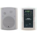 Kramer TAVOR 5-O 2x30 Watt Powered On-Wall Speaker System w/ Mounting Brackets - White - Pair