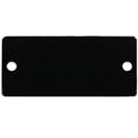 Kramer W-Blank Wall Plate Insert Blank Slot Cover Plate (Black)