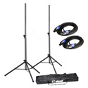 LD Systems SP023-STANDSET - 2X Speaker Stand w/Transport Bag & 2X Speaker Cables for Dave 10/12/15 Systems