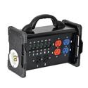 Lex BNB2-3B 30 Amp Bento Box to (3) NEMA 5-20 Duplex Receptacles Power Distribution Box with Feed Thru