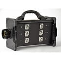 Lex BNZJ2-6M Bento Breakout Box LSC19 panel Mount to (6) 20A Neutrik PowerCon Receptacle with LSC19 Feed Thru Power Dist