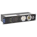 Lex PRM2IN-1CC12GN Rack Mount Power Distribution/ 2RU/ L21-30 In/Thru Front/ (12) 20A Neutrik PowerCon Outlets (Grey)