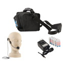 Anchor MiniVox Lite AC/DC Powered Speaker Monitor PA - Basic Package with Wired Headband Mic - Black