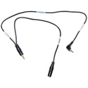 Sescom LN2MIC-ZMH6-MON DSLR Cable 3.5mm TRS Line to 3.5mm TRS Mic 25dB Attenuation w/ Monitoring Tap for Zoom H6 - 18 In