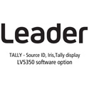 Leader LV5350-SER27 TALLY - Source ID / Iris / Tally Display for LV5350 (software)