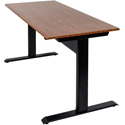 Luxor SPN48F-BK/TK Pneumatic Adjustable Height Standing Desk - 48 Inch