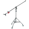 Manfrotto 025B Pro Lighting Stand with Super Boom Arm Included - Black