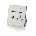 Middle Atlantic 39704 HDMI VGA 3.5mm Audio Composite Video and RCA Stereo Audio Pass Through Double Gang Wall Plate
