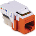 HellermannTyton RJ45FC5E-ORN CAT5e 110 Punchdown Keystone Module - Orange