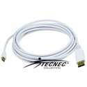 DisplayPort to Mini DisplayPort Male-Male 10FT 32AWG White