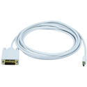 Mini DisplayPort to DVI - Male-Male - 3FT - White