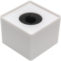 Connectronics MF-S3WH 3.5 inch Square Mic Flag Blank - Glossy White
