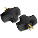 Milspec D10101001 90 Degree TripleTap Adapter (Black)