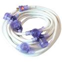 Milspec D12420050 STW 12/3 ProCap Bracket Multi-Outlet Cord - Outlets at 10FT Intervals - White - 50 Foot