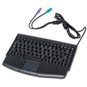 Mini PS2 Keyboard with Touchpad Black