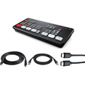 Blackmagic Design ATEM Mini Live Production Switcher Kit with HDMI/USB/CAT5 Cables for Mac