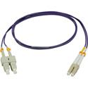 Camplex MMDM4-LC-SC-001 OM4 10/40/100G Multimode Duplex LC to SC Fiber Patch Cable - Purple 1 Meter