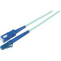 1-Meter 50/125 Fiber Optic Patch Cable Multimode Simplex LC to SC - 10-Gig Aqua
