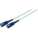 3-Meter 50/125 Fiber Optic Patch Cable Multimode Simplex SC to SC - 10-Gig Aqua