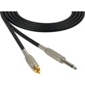 Mogami Audio Cable 1/4-Inch TS Mono Male to RCA Male 1.5 Foot - Black