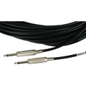 Sescom MSC3SS Audio Cable Mogami Neglex Quad 1/4 TS Mono Male to 1/4 TS Mono Male Black - 3 Foot