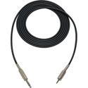 Sescom MSC3SZMZ Audio Cable Mogami Neglex Quad 1/4 TRS Balanced Male to 3.5mm TRS Balanced Male Black - 3 Foot