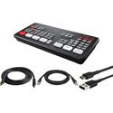 Blackmagic Design ATEM Mini Pro Live Production HDMI Switcher Kit with HDMI/USB/CAT5 Cables for PC