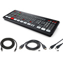 Blackmagic Design ATEM Mini Extreme ISO Live Production Switcher Kit with HDMI/USB/CAT6A Cables