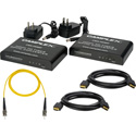 Markertek Exclusive HDMI to Fiber Converter/Extender Kit with 164 Foot SM ST Fiber Patch Cable & (2) 10 Foot HDMI Cables