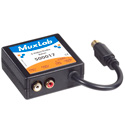 MuxLab 500017 S-Video with Stereo Audio Videoease CAT5 Balun