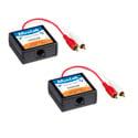 MuxLab 500028 RCA Stereo Audio Hi-Fi Balun 2-Pack