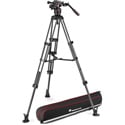 Manfrotto MVK608TWINMCUS Nitrotech 608 Video Head - Carbon Fiber Twin Leg Tripod with Middle Spreader