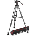 Manfrotto MVK612TWINMCUS Nitrotech 612 & Carbon Fiber Twin Leg Tripod with Mid-Level Spreader