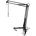 MXL BCD Stand Articulating Mic Boom Arm Radio DJ/Talk Show/Podcast/Voiceover Desktop Stand with 12 ft Mic Cable - Black
