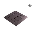 Mystery FMCA1200 Flat Trim Satin Black Floor Box with Cable Door