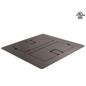 Mystery FMCA3200 Flat Trim Satin Black Floor Box with Cable Door
