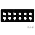 Mystery FP-6G-12-B 6-Gang Black Wall Panel for 12 Each Neutrik D