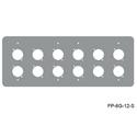 Mystery FP-6G-12-S 6-Gang Stainless Wall Panel for 12 Each Neutrik D
