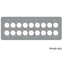 Mystery FP-6G-18-S 6-Gang Stainless Wall Panel for 18 Each Neutrik D