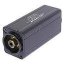 Neutrik NA2M-D0B-TX 3 Pole XLR Male - RCA / Phono Socket Adapter - Black Coded