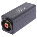 Neutrik NA2M-D2B-TX 3 Pole XLR Male - RCA / Phono Socket Adapter - Red Coded