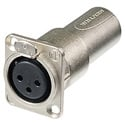 Neutrik NA3FDM D Series 3 Pin XLR-F to XLR-M Feedthrough Panel Mount