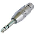 Neutrik NA3FP 3 Pin XLR Female to TRS 1/4 Inch Plug