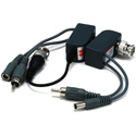 UPS 1 Channel Passive CCTV BALUN - Video/Audio/Power over Cat5